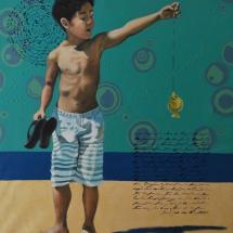 Obra A Pesca - Artista Diego Mendonça