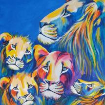 Obra Família de Leões - Artista Flávia Barsanulfo